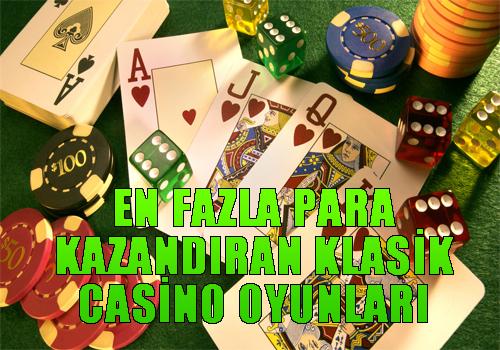 online casino siteleri, En fazla para kazandıran klasik casino oyunları, En iyi casino oyunu